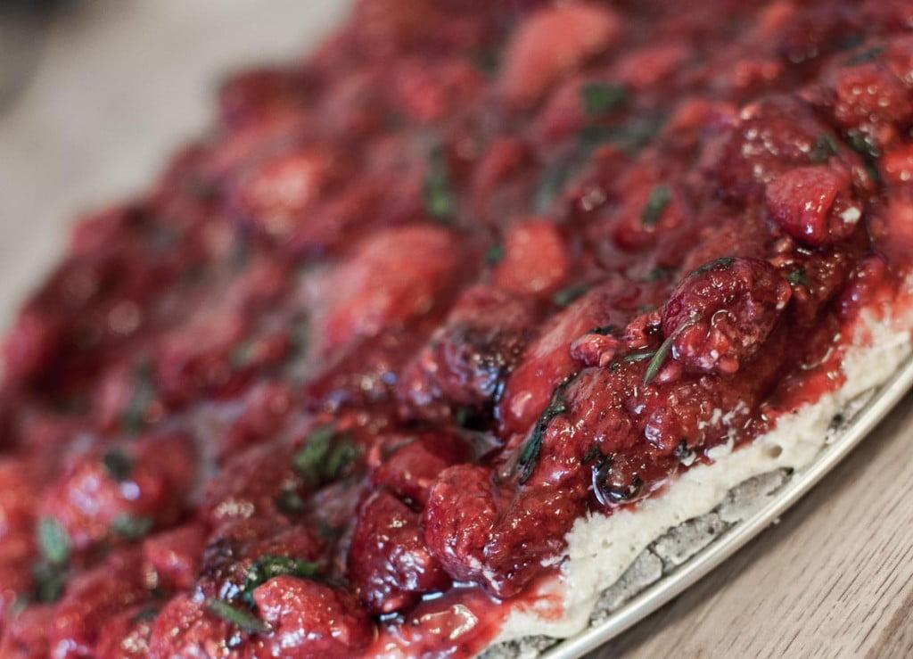 lime jordbær ostekake