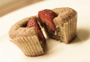 muffins med jordbær