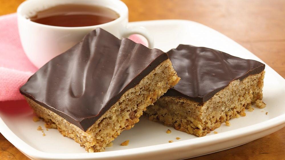 valnøttbar med sjokolade