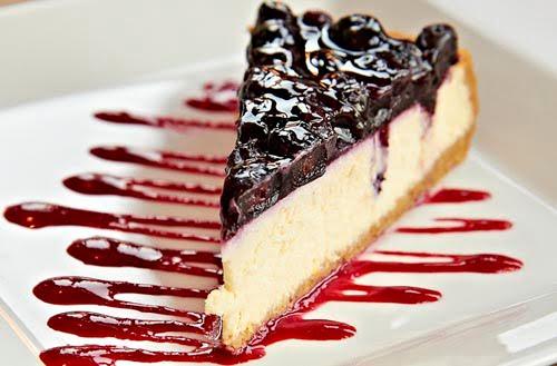 Enkel ostekake med blåbær